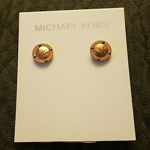 Michael Kors gold tone stud earrings